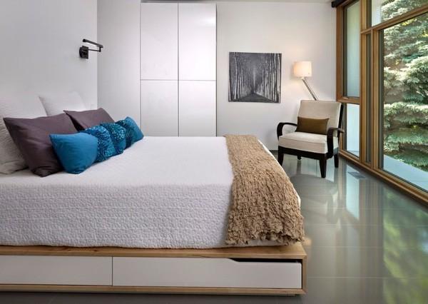 2.Thiết kế giường thông minh kèm ngăn kéo tiết kiệm không gian căn phòng
